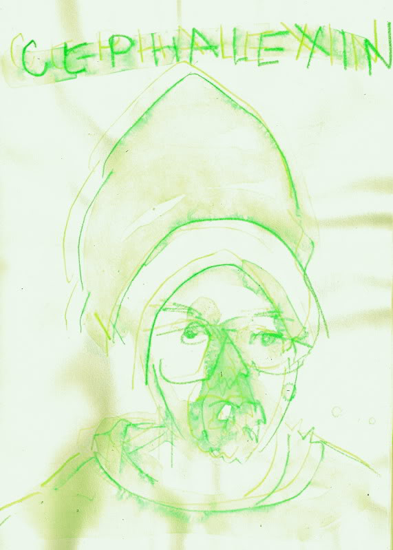 Bryan Lewis Saunders - autoportret, korištena droga: Cephalexin (250 mg)