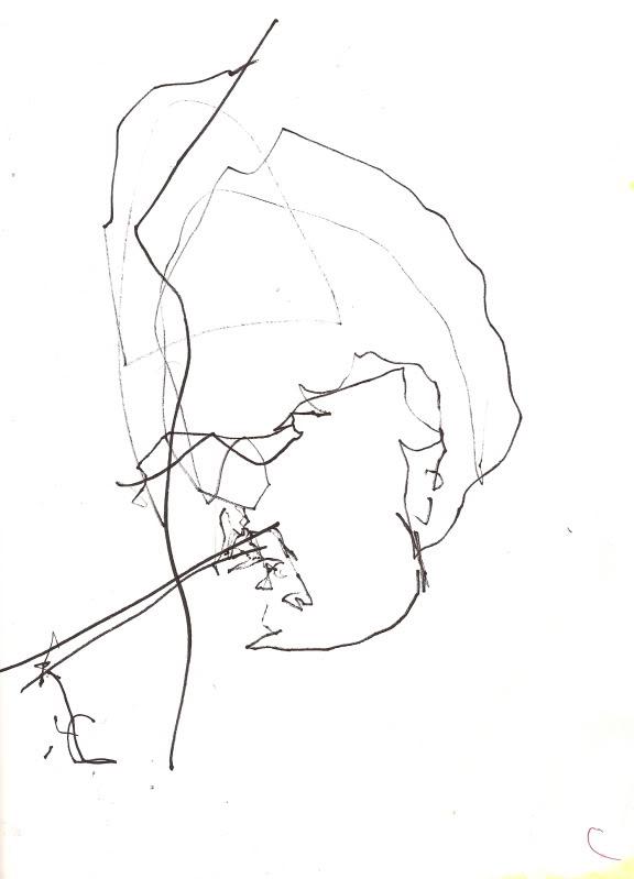 Bryan Lewis Saunders - autoportret, korištena droga: sprej za odstranjivanje prašine za kompjutere