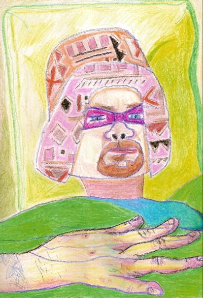 Bryan Lewis Saunders - autoportret, korištene droge: 1 injekcija Dilauidida i 3 injekcije morfija