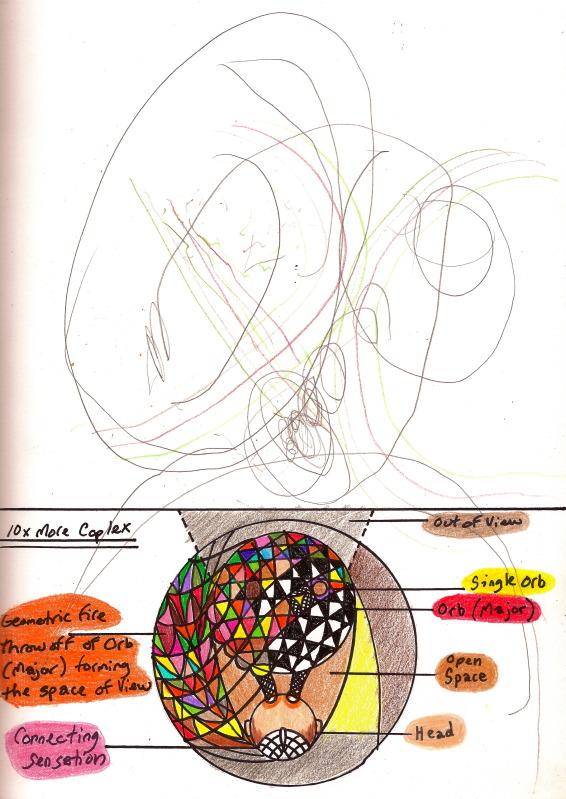 Bryan Lewis Saunders - autoportret, korištena droga: DMT (Dimethyltryptamine)