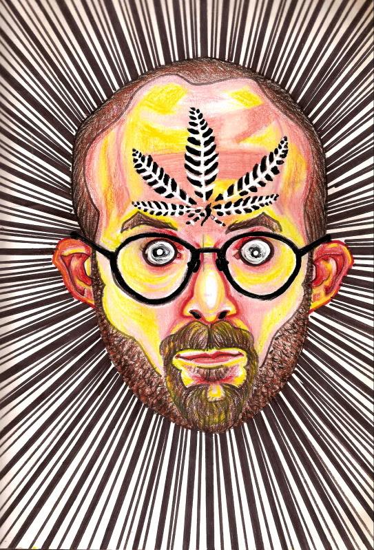 Bryan Lewis Saunders - autoportret, korištena droga: marihuana, sorta G13