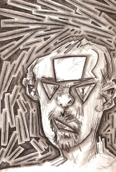 Bryan Lewis Saunders - autoportret, korištena droga: inhalacija benzina