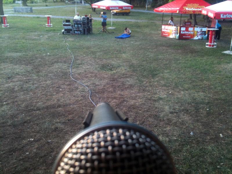 Pogled s mikrofona