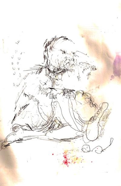 Bryan Lewis Saunders - autoportret, korištena droga: PCP (Phencyclidine - halucinogeni neurotoksin)