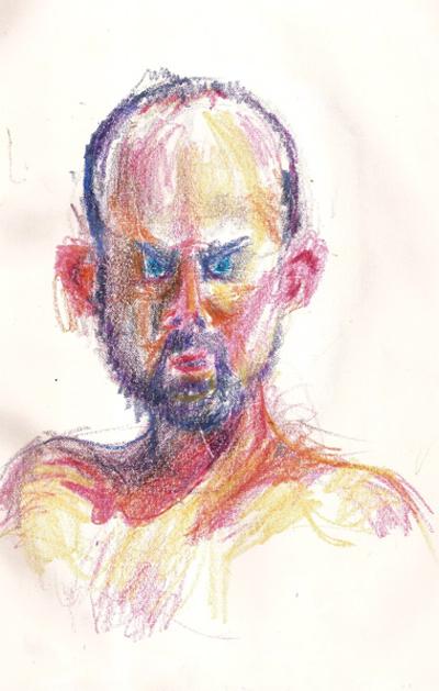 Bryan Lewis Saunders - autoportret, korištena droga: Percocet (7,5 mg)