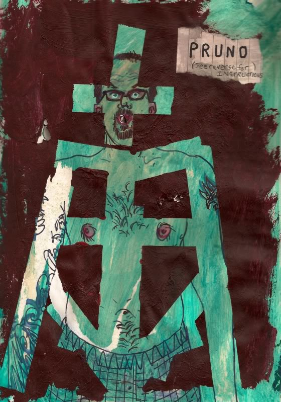 Bryan Lewis Saunders - autoportret, korištena droga: Pruno (Zatvorsko vino, 1 čaša)