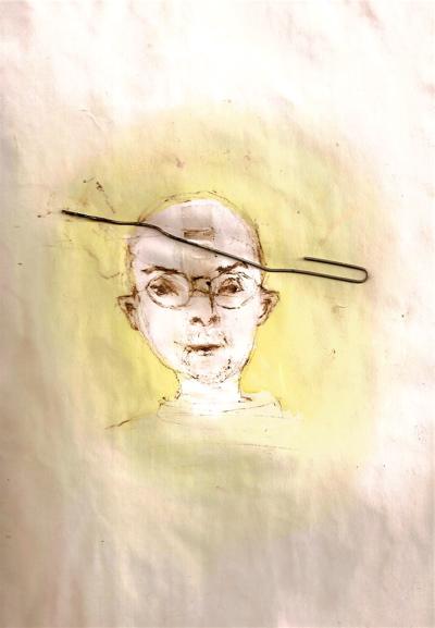 Bryan Lewis Saunders - autoportret, korištena droga: smola marihuane (nije hašiš)
