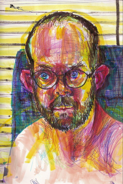 Bryan Lewis Saunders - autoportret, korištena droga: Ritalin (metilfenidat, nepoznata doza, ušmrkano)