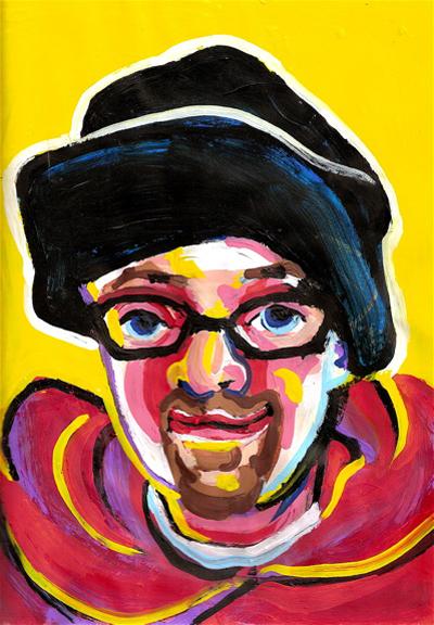 Bryan Lewis Saunders - autoportret, korištena droga: Salvia Divinorum (Božanska kadulja)