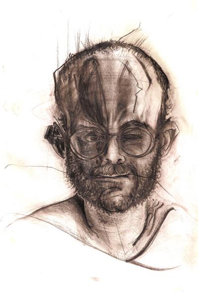 Bryan Lewis Saunders - autoportret, korištena droga: Seroquel (100 mg)