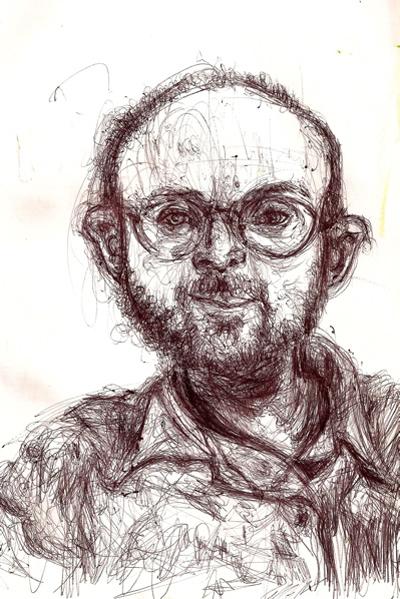 Bryan Lewis Saunders - autoportret, korištena droga: Valium (20 mg)