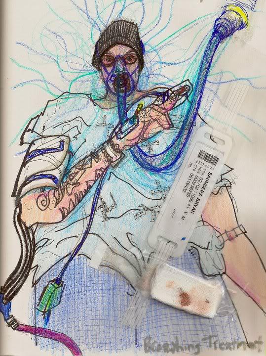 Bryan Lewis Saunders - autoportret, korištena droga: Valium IV, (Albuterol, Saline i kisik, primljeno u bolnici)