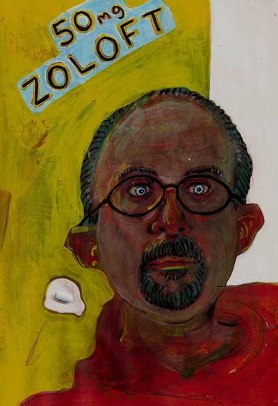 Bryan Lewis Saunders - autoportret, korištena droga: Zoloft (50 mg, nakon dva tjedna)