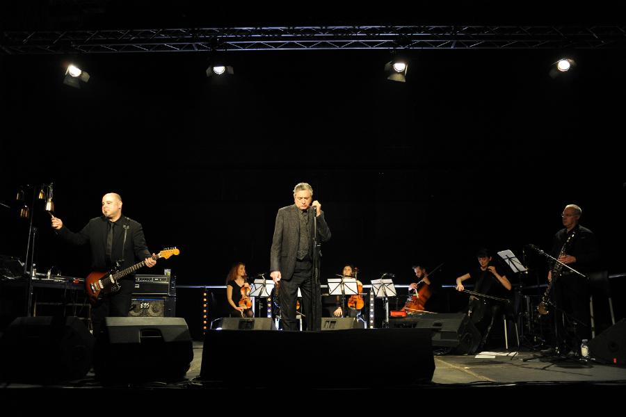 Blixa Bargeld i Teho Teardo u Pogonu Jedinstvo (Foto: Mladen Pobi)