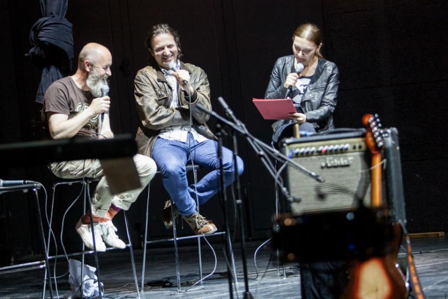 Petar Beluhan, Zoran Stajčić i Jelena Balent - MIMO u Gorgoni (Foto: Izidor Tačković)