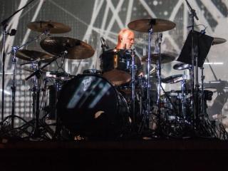 Laibach sa simfonijskim orkestrom RTV Slovenije u KD Vatroslav Lisinski (Foto: Izidor Tačković)